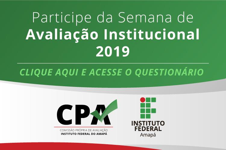 Semana de Avaliação Institucional 2019