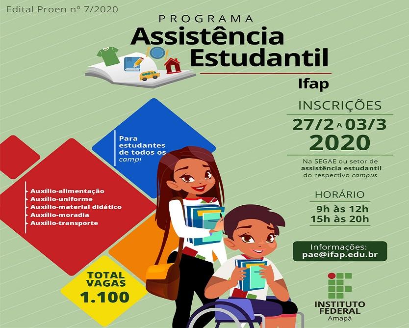 Publicado o edital de Assistência Estudantil 2020