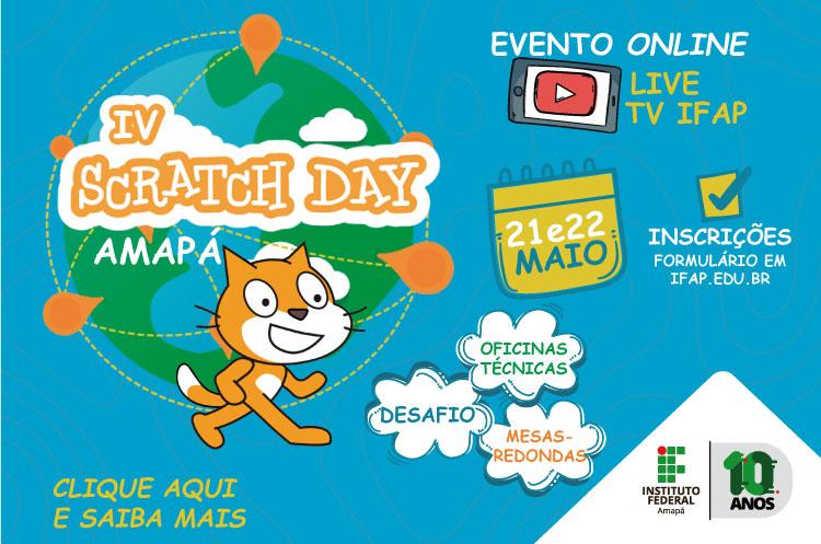 Scratch Day ocorrerá nos dias 21 e 22 de maio