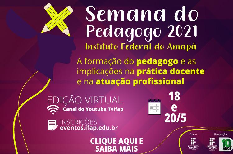 Ifap promove semana do pedagogo 2021