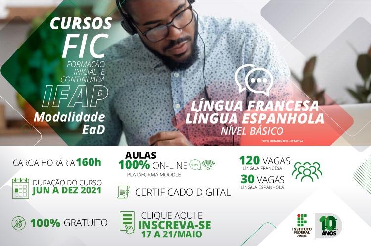 Ifap oferta curso de francês e espanhol