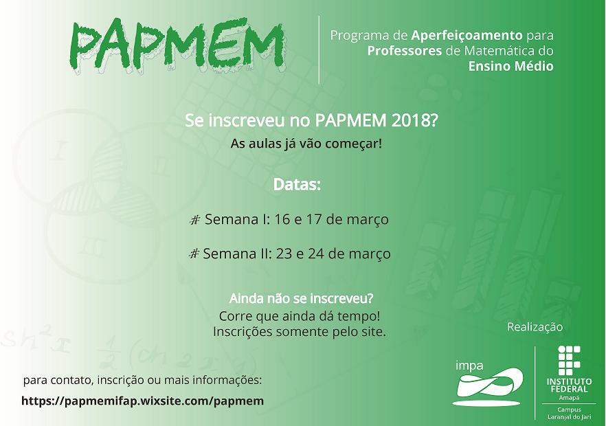 PAPMEM 2018