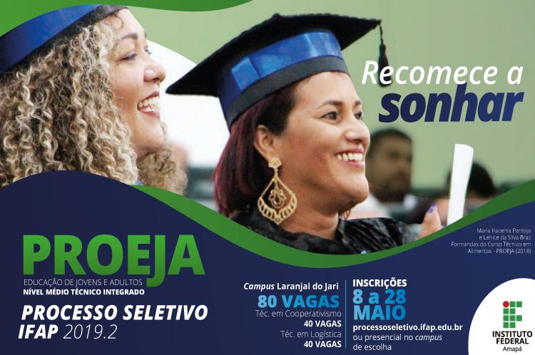Inscrições abertas para cursos do Proeja 2019